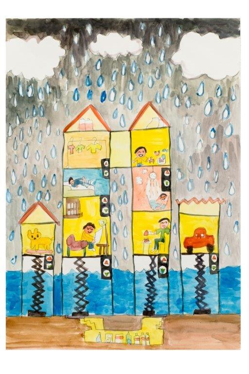 「大雨がふってもあんしんな家」